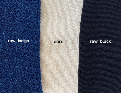 Knorts Denim Knitwear Raw Denim Color Card