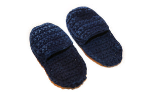 In the Clouds DIY Crochet Slippers - Finished