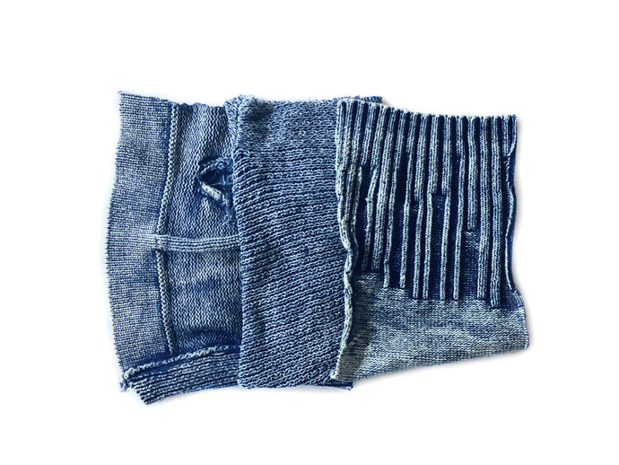 DIY Pre Cut Knit Denim Quilting Blocks