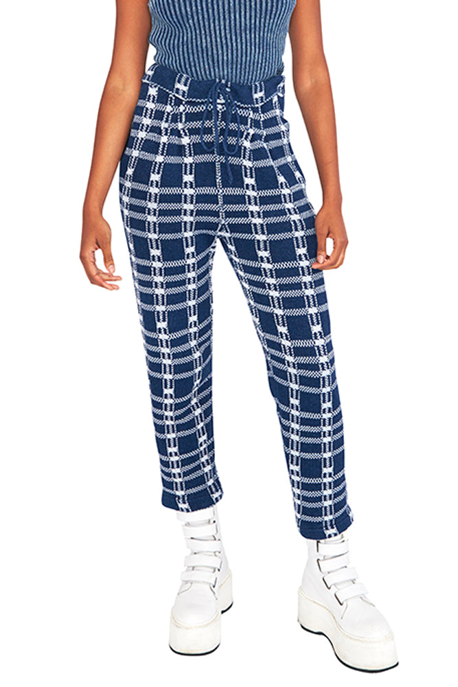 Pleated Guilty Reversible Plaid Pants - Rent