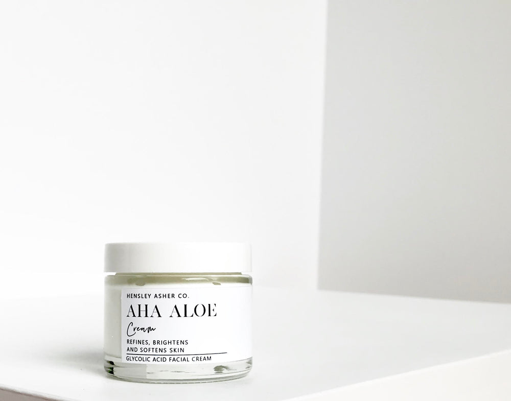 AHA Aloe Face Cream - Hensley Asher Co.