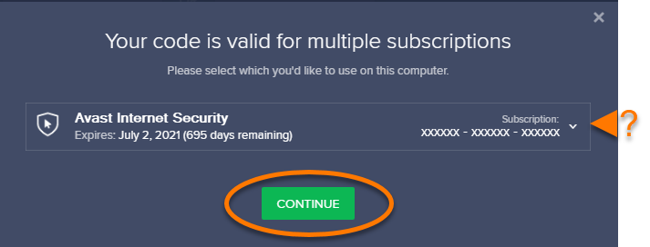 14 - Avast Internet Security Activation Continue - AntivirusSale.com