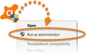 1 - Avast Internet Security Installation Run as Administrator - AntivirusSale.com