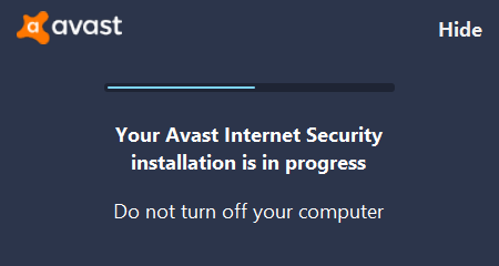 4 - Avast Internet Security Installation Wait - AntivirusSale.com