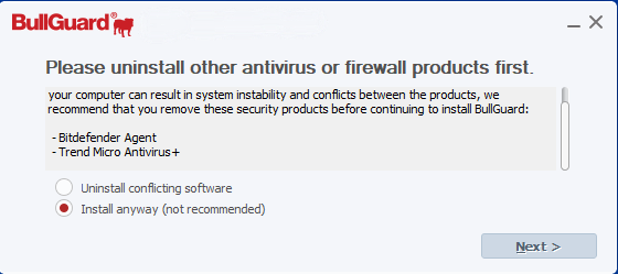 4 - BullGuard Installation Uninstall Other - AntivirusSale.com