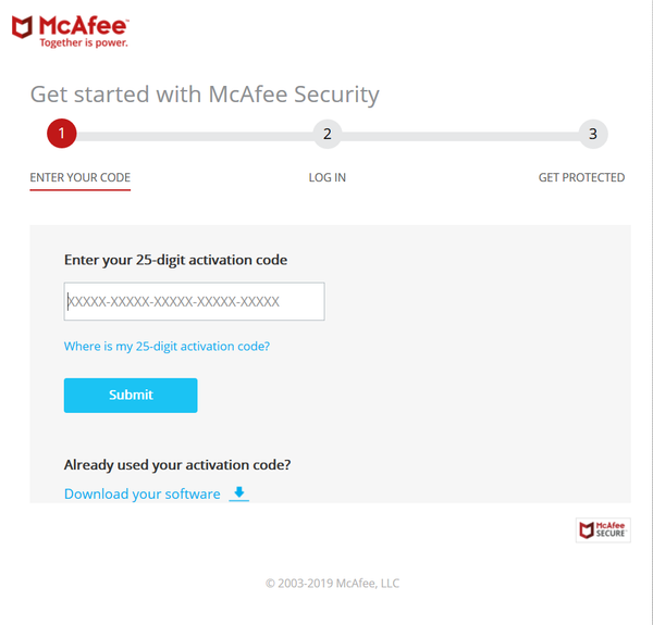 Activate McAfee Subscription Enter the Key