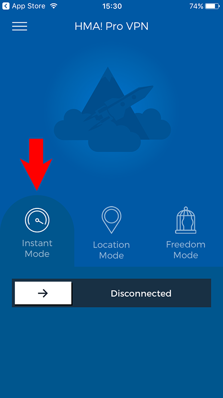 How to use the HMA! iOS App Instant Mode