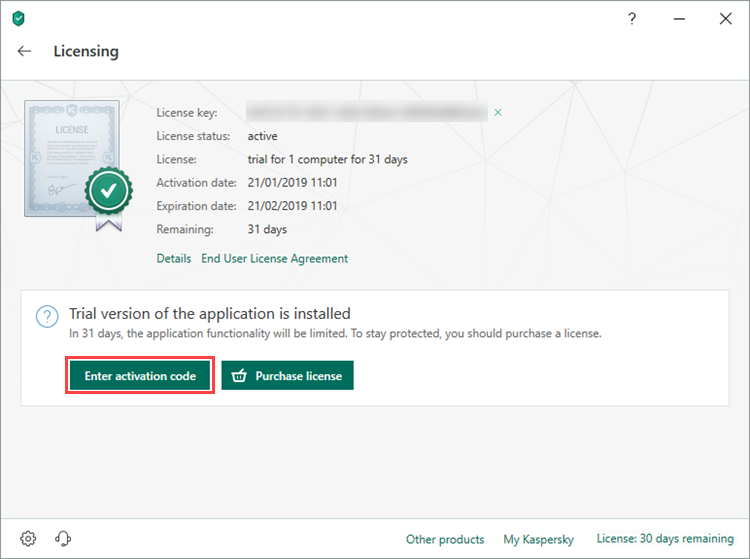 Kaspersky Total Security Activation 2