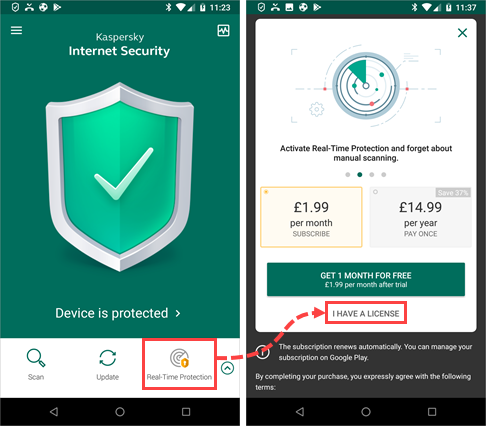 Kaspersky Total Security for Android License