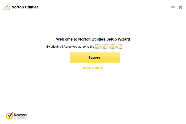 Norton Utilities Installation Agree the Terms