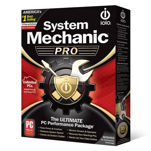 IOLO System Mechanic Pro Unlimited PC / 1 Year Unique Global Activation Code 2019 - AntivirusSale.com