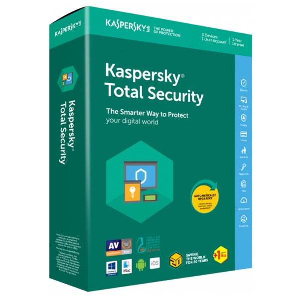 Kaspersky Total Security 10 PC/Device 1 Year Europe Activation Code
