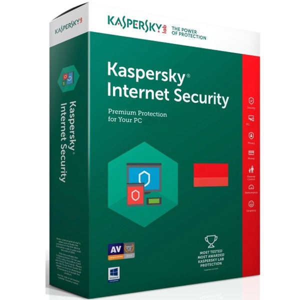Kaspersky Internet Security 1 PC  1 Year (Worldwide Activation) - Antivirussale.com