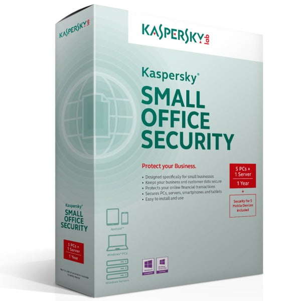 Kaspersky Small Office Security 20 Users + 2 File Servers + 20 Mobiles - AntivirusSale.com