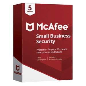McAfee Small Business Security 5 Device 1 Year AntivirusSale.com