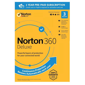 Norton 360 Deluxe 3 Device / 1 Year US&Canada