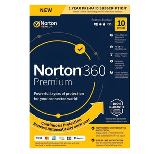 Norton 360 Premium 10 Device / 1 Year Global Key Code