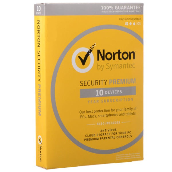 Norton Security Premium 10 Device / 1 Year EU Region Only - AntivirusSale.com