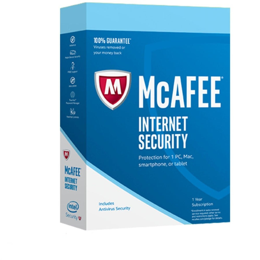 McAfee Internet Security Unlimited PC 1 YEAR - AntivirusSale.com