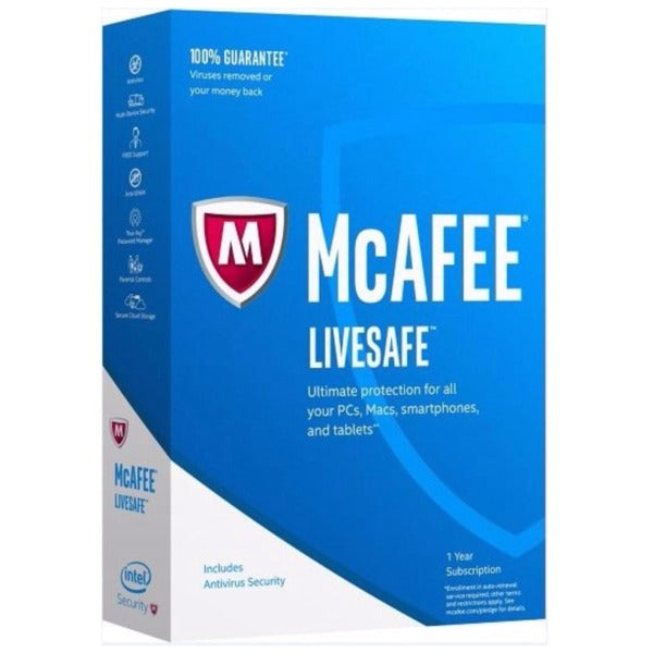 McAfee LiveSafe Unlimited PC 1 Year Global Activation