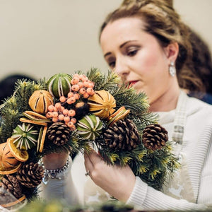 Spiced Orange Woodland Wreath Kit