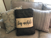 Farmhouse Style Burlap Pillow Wrap