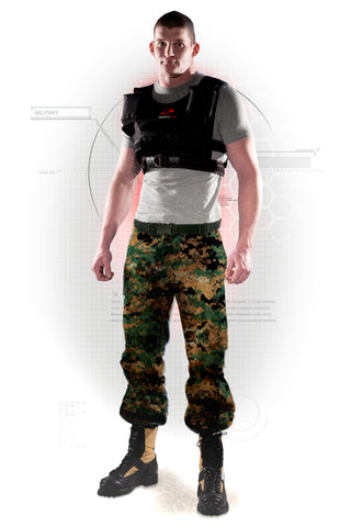 Military Training with a Resistance Wear Weight Vest