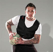 Rugby Training with a Resistance Wear Weight Vest