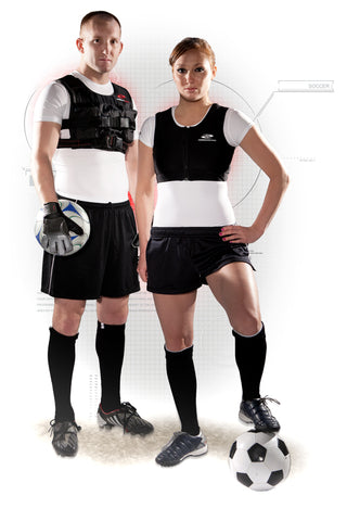 Soccer Training with a Resistance Wear Weighted Vest