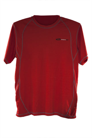 Men's PowerUp Short Sleeve Compression Shirt at ResistanceWear.com - Red