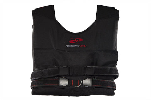LiftMax 60 Weight Vest (w/ 10 lbs.) at ResistanceWear.com - Front View
