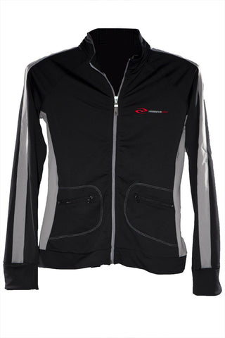 Women's VinyaFlow Yoga Jacket at ResistanceWear.com - Black