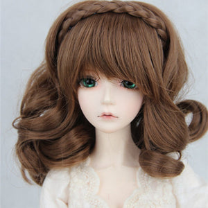 Doll Wig with braid for SD 1/3 size BJD