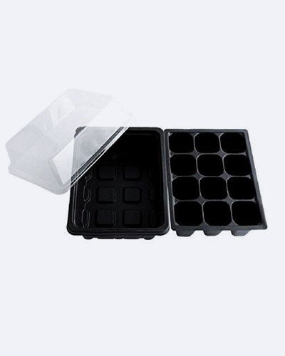 0PCS 12 Cells Hole Seedling Seed Starter Trays Plant Seeds Grow Box Insert Propagation Nursery Pots