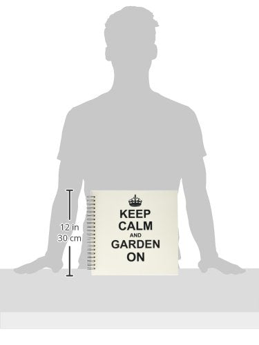 Keep Calm and Garden on Carry on Gardening Gardener Gifts Black Fun Funny Humor Humorous Memory Book