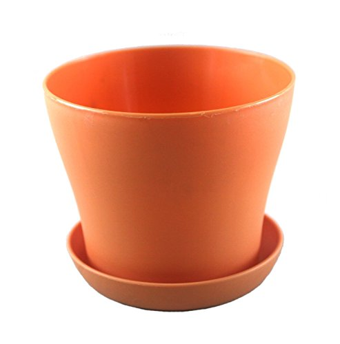 "Truedays 4"" Mini Plastic Flower Seedlings Nursery Pot/ Planter / Flower Pot With Pallet 8 Colors"