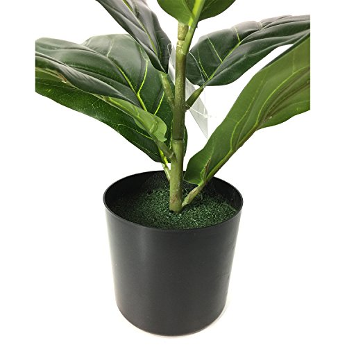 BESAMENATURE Artificial Fiddle Leaf Fig Tree Potted For Home Decor 22