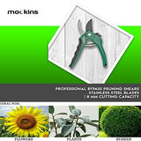 Mockins Professional Garden Bypass Pruning Shears, Tree Trimmers Secateurs, Hand Pruner, Stainless Steel Blades