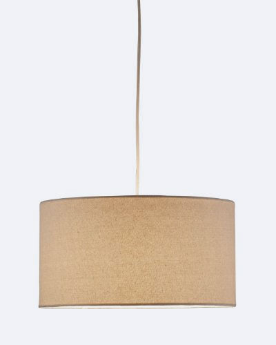 Adesso 4001-12 Harvest Drum Pendant, Natural