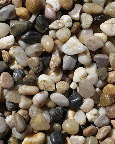 Exotic Pebbles PMS0510 Polished Gravel, Mixed, 5 Pounds