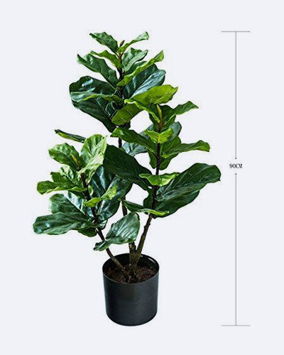 BQEE 1001 Artificial Fiddle Leaf Fig Tree 、Ficus Lyrata、Artificial Plants for Home Decor