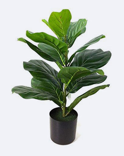 BESAMENATURE Artificial Fiddle Leaf Fig Tree, Potted Artificial Tree for Home Decor, 22''