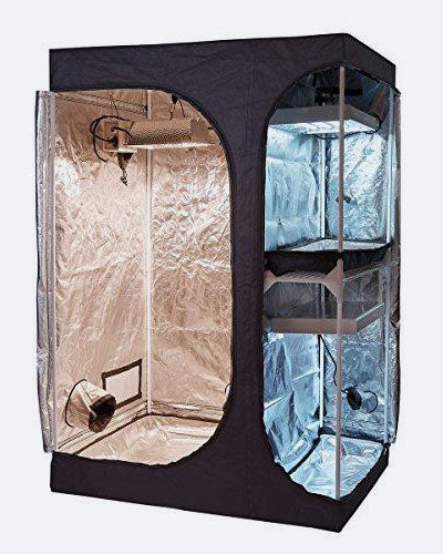 "TopoGrow Indoor Grow Tent 48""X36""X72"" Hydroponic Plant Growing, 2-In-1 Lodge Propagation"