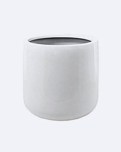 Vase Source White Round Planter