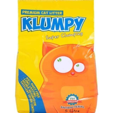 Image of Klumpy Cat Litter, 5L, 16L, cat clay clumping litter, cat EXCELLENT ODOR CONTROL litter available at allaboutpets.pk largest online pet store in pakistan.