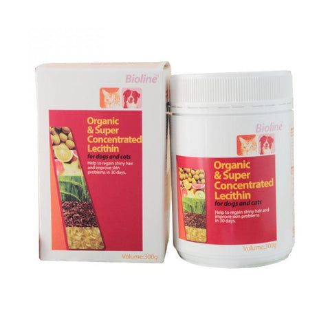 Bioline Organic and Super Concentrated Lecithin 300g for cats and dogs available at allaboutpets.pk