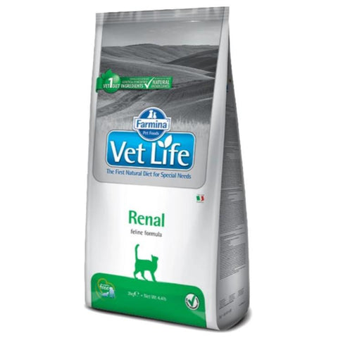 Image of Farmina Vet Life Feline Renal 2 KG cat food available at allaboutpets.pk in pakistan.