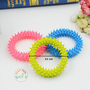 Dog Toy Puppy Dental Soft Rubber ring teether  Toy available at allaboutpets.pk in Pakistan