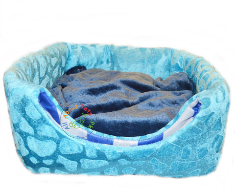 Image of Cat Bed & House 2 in 1 Soft and Comfortable blue available at allaboutpets.pk in Pakistan