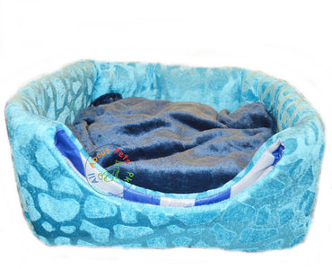 Cat Bed & House 2 in 1 Soft and Comfortable blue available at allaboutpets.pk in Pakistan